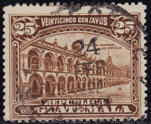 Guatemala - 1922 - Scott #203 - used - National Palace