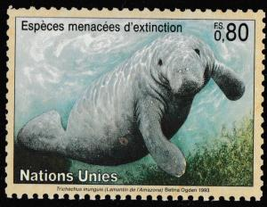 United Nations Endangered Species Lamantin de l'Amazone FS 0.80 single MNH 1993