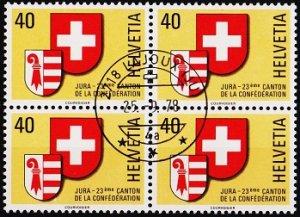 Switzerland. 1978 40c(Block of 4). S.G.966 Fine Used