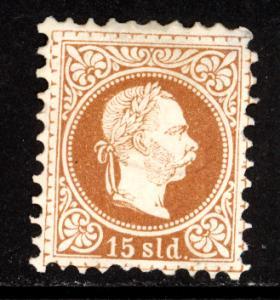 Austria Turkey 1876 Scott #7i MH, tiny thin.