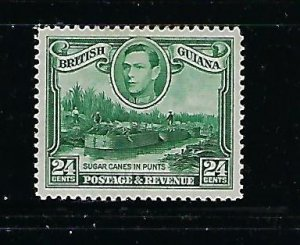 BRITISH GUIANA SCOTT #234A 1938-52 GEORGE VI 24 CENTS-WMK UPRIGHT MINT HINGED