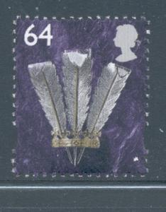 Great Britain Wales Sc 16 1999 64p Feathers stamp mint NH