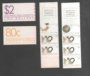 Australian Decimal Stamps 2X $2 & 80c Crafts booklet 39c stamps MINT MUH 5X39c +