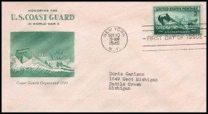 US 936 Merchant Marine Grimsland Typed FDC