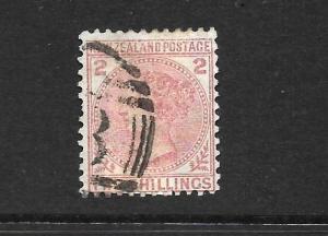 NEW ZEALAND 1874-78  2/-   FSF  QV    FU    SG 185   CP C7a