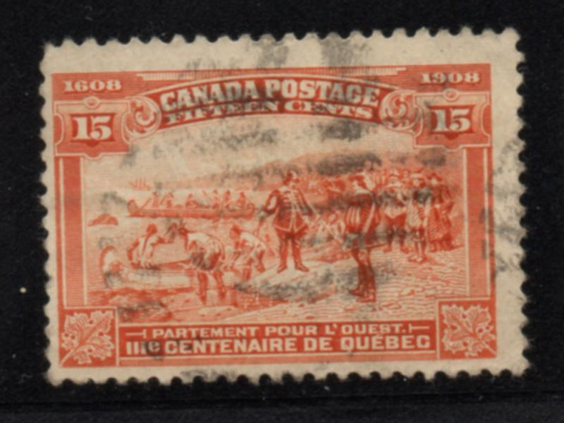 Canada Sc 102 1908 15c Champlain's Departure stamp used
