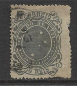 Brazil - Scott 100c -  Definitive -1890 -Used - Single 50r Stamp