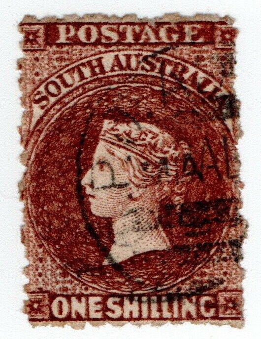(I.B) Australia - South Australia Postal : 1/- Chocolate (SG 130)