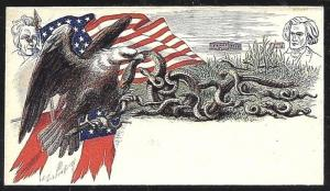 Rare 'Mint' US CW Union Patriotic HARBACH Cover ~ Weiss #E-R-296...Hand-Painted!
