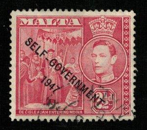 Malta,1948 King George VI, Overprinted SELF-GOVERNMENT 1947 (ТS-424)