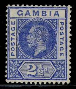 GAMBIA GV SG90a, 2½d bright-blue, LH MINT.