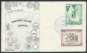 CHILE ANTARCTIC 1961 cover - base cancel...................................53553