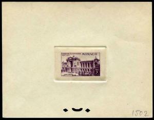 HERRICKSTAMP MONACO Sc.# C18 1947 Color Proof Deluxe Stamp Souvenir Sheet
