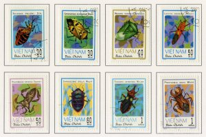 VIET NAM 1221-8 USED BIN $1.25 INSECTS