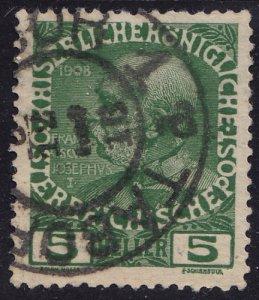 Austria - 1908 - Scott #113 - used - TABOR pmk Czech Republic