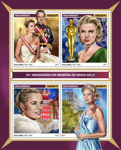 MOZAMBIQUE 2017 SHEET GRACE KELLY CINEMA ACTRESSES