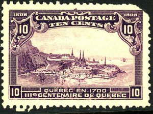 Canada #101 MINT OG NH Glazed Gum Corner Torn