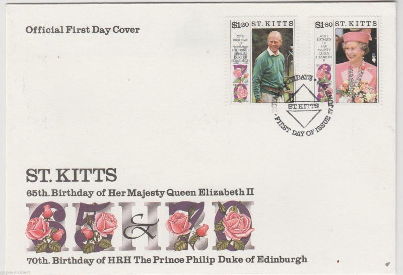 ST KITTS   65th Birthday of Queen Elizabeth II  1991   FDC