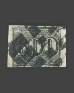VINTAGE: BRAZIL 1849 USED SCOT# MICH C 18 $ 182 LOT # BR1888