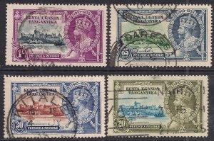 Kenya Uganda Tanganyika 1935 KGV set Silver Jubilee used SG 124 – 127 ( 978 )