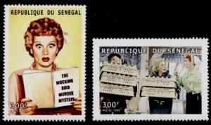 Senegal MNH 1426-7 Lucille Ball I Love Lucy SCV 2.40