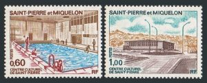 St Pierre & Miquelon 429-430,MNH.Michel 492-493. Opening of Cultural Center,1973