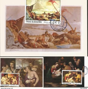 J) 1970 RAS ALKHAIMA, THE ADORATION OF THE SHEPHERDS, TIZIANO VECELLIO GALLERIA
