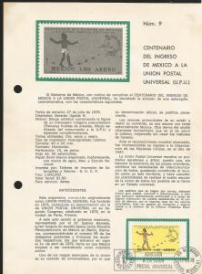 L) 1979 MEXICO, CENTENNIAL OF THE INCOME OF MEXICO TO THE UNIVERSAL POSTAL UNION
