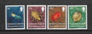 Falkland Islands MNH 1L76-9 Marine Life Crustaceans 1984