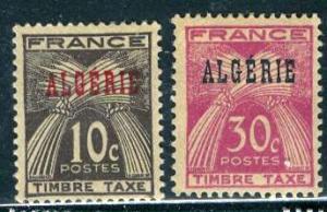 Algeria; 1947: Sc. # J33/J34: */MH Cpl. Set