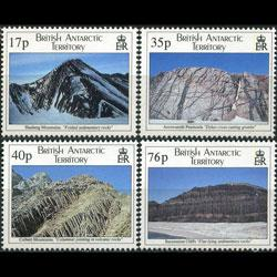 BR.ANTARCTIC TERR. 1995 - Scott# 231-4 Geology Set of 4 NH