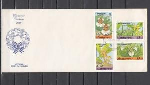 Montserrat, Scott cat. 658-661. Christmas issue. Orchids. First Day Cover.