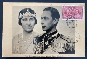 1937 St Joseph Canada Picture Postcard Cover King George VI Coronation