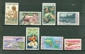FRENCH POLYNESIA AIR NICE LOT of 8...USED NO THINS...$85.00