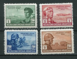 CROATIA GERMAN PUPPET STATE 1943 CROATIAN LEGION SET B33-B36 PERFECT MNH