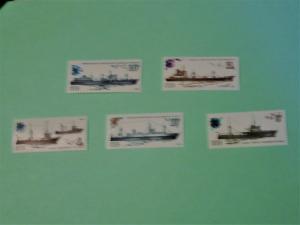 Russia - 5157-61, MNH Set. Soviet Fishing Fleet. SCV - $2.00