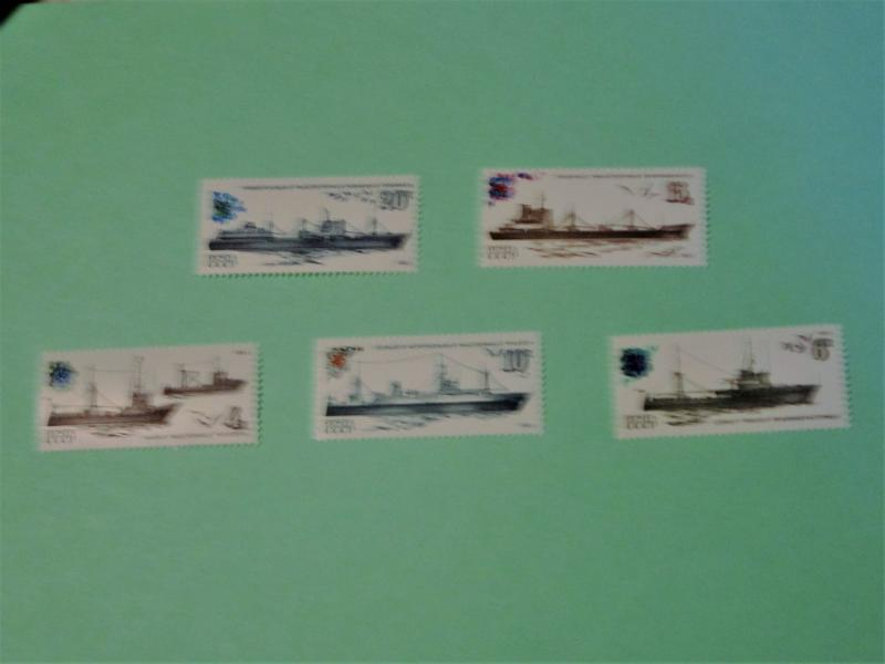 Russia - 5157-61, MNH Set. Soviet Fishing Fleet. SCV - $2.00