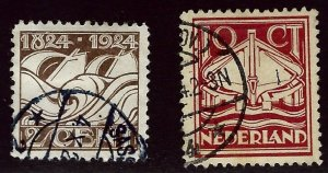 Netherlands SC#140-141 Used  F-VF....Worth a close look!!