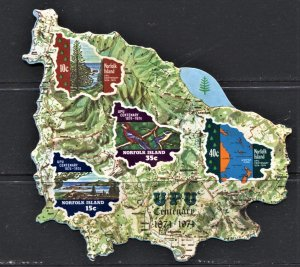 STAMP STATION PERTH Norfolk Island #184a UPU Set MNH- CV$25.00