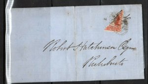 New Brunswick #9a Used Bisect On Cover To Richibucto **With Certificate**