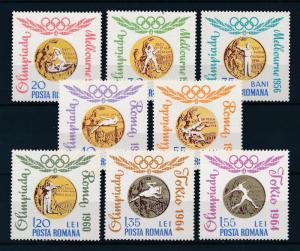 [54602] Romania 1964 Olympic games Boxing Wrestling Athletics MNH