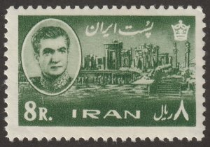 Persian/Iran stamp, Scott# 1339, MNH, 8R, yellow green,1965 year, #K-9