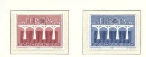 Faroe Islands Sc 106-7 1984 Europa stamp set NH