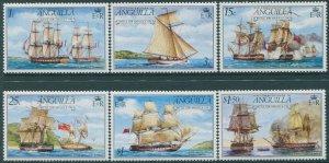 Anguilla 1976 SG255-260 Ships set MNH