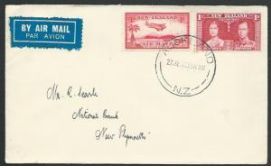 NEW ZEALAND 1937 first flight cover Auckland - New Plymouth................56794