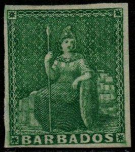 $Barbados Sc#5 M/H/VF, Cv. $210