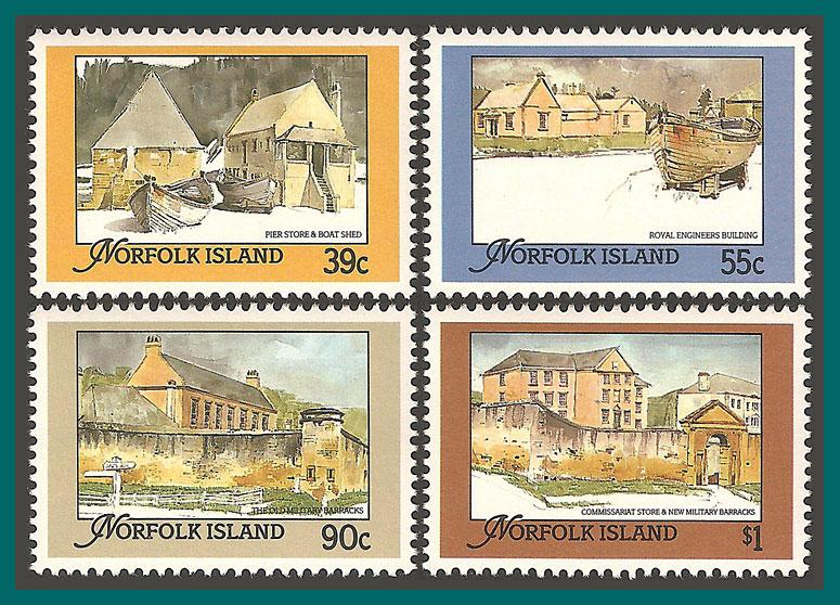 Norfolk Island 1988 Buildings, MNH  444-447,SG452-SG455