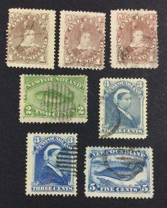 MOMEN: NEWFOUNDLAND #44/48 1880 USED £109 LOT #7020