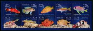 HERRICKSTAMP NEW ISSUES CURACAO Sc.# 217 Fish 2014 Sheetlet