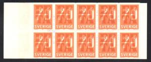 Sweden Sc 718a 1967 EFTA stamp bklt of 10 mint NH